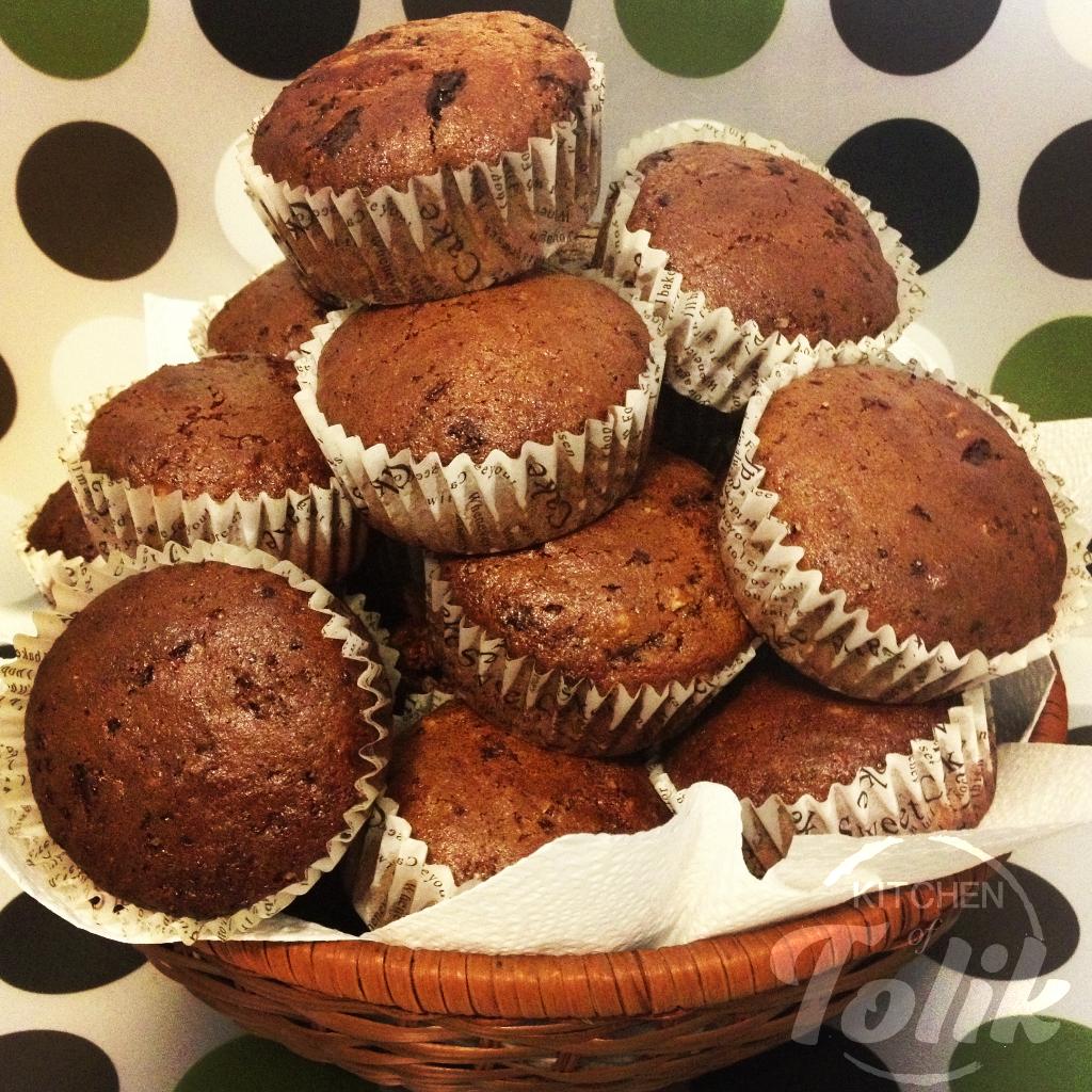 Шоколадови мъфини с кисело мляко