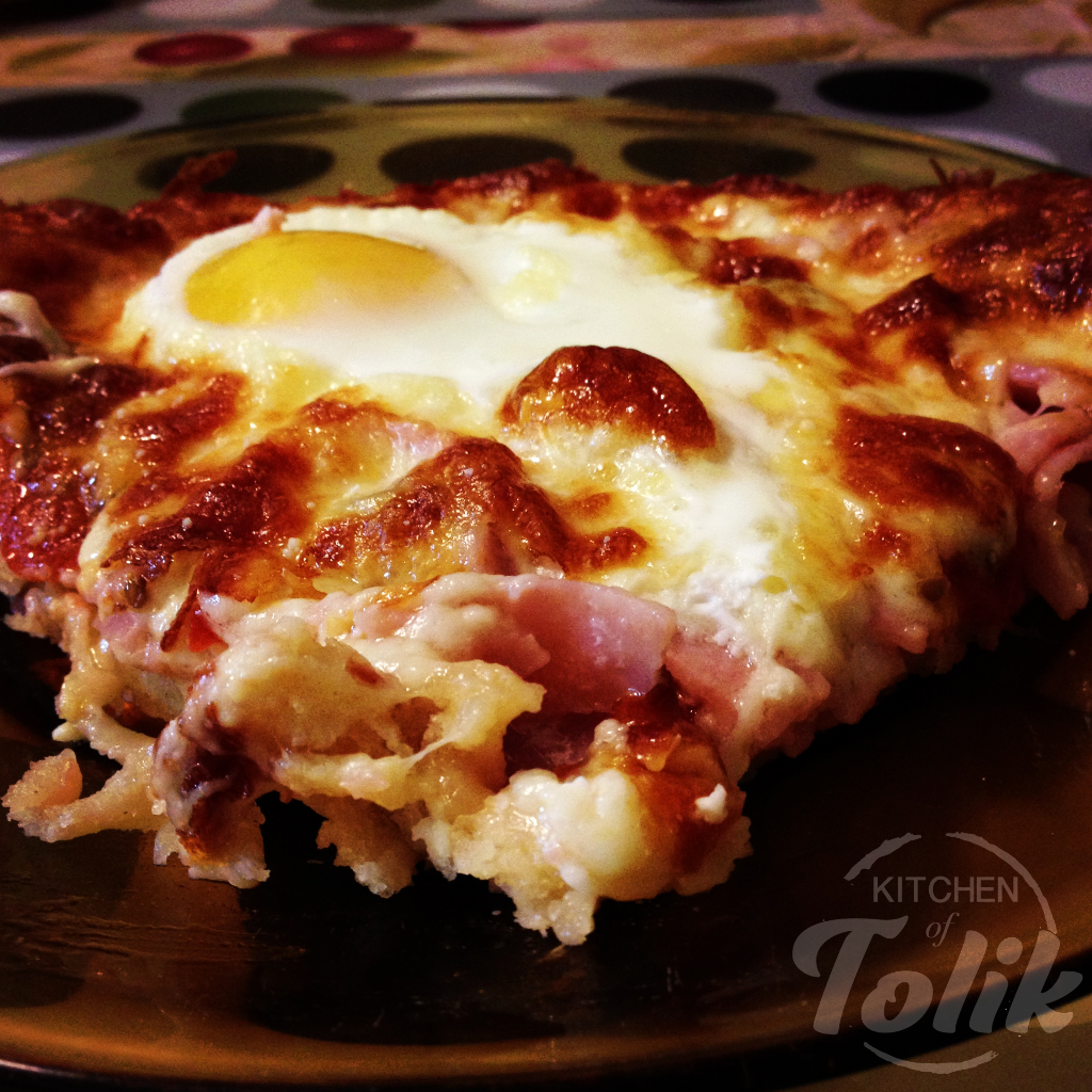 Пица с яйце