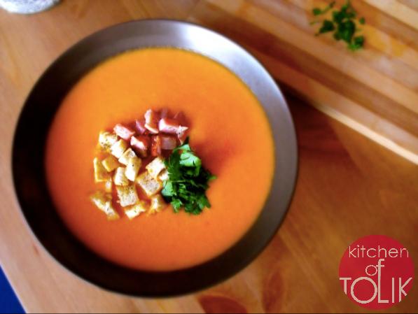 Доматена крем супа с бекон ала Елена