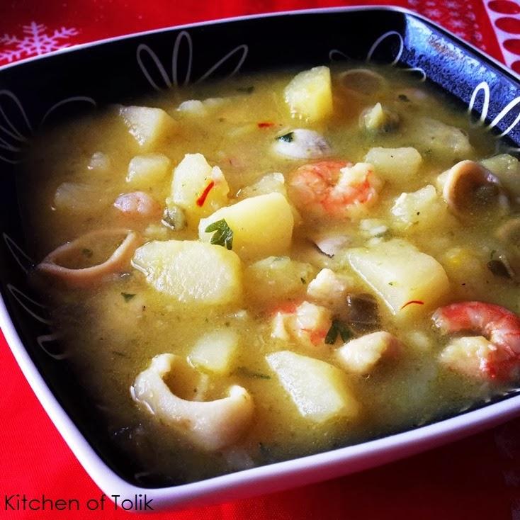 Картофена супа с морски дарове