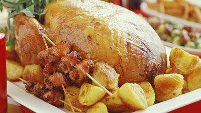 Коледна пуйка с картофи