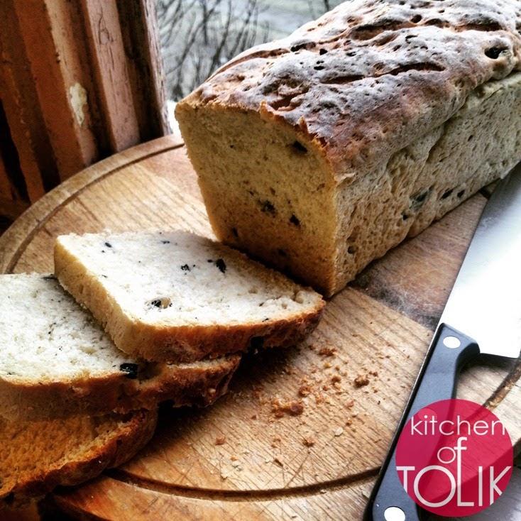 Домашен хляб с маслини