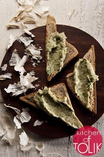 Сандвич с коприва и бял боб