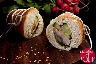 Сандвич с маринована херинга