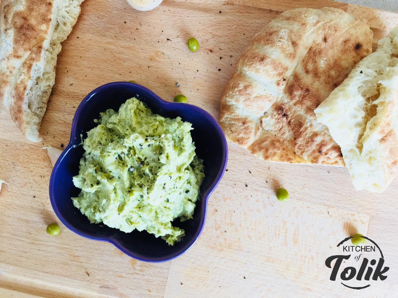 Дип с грах и зелени маслини