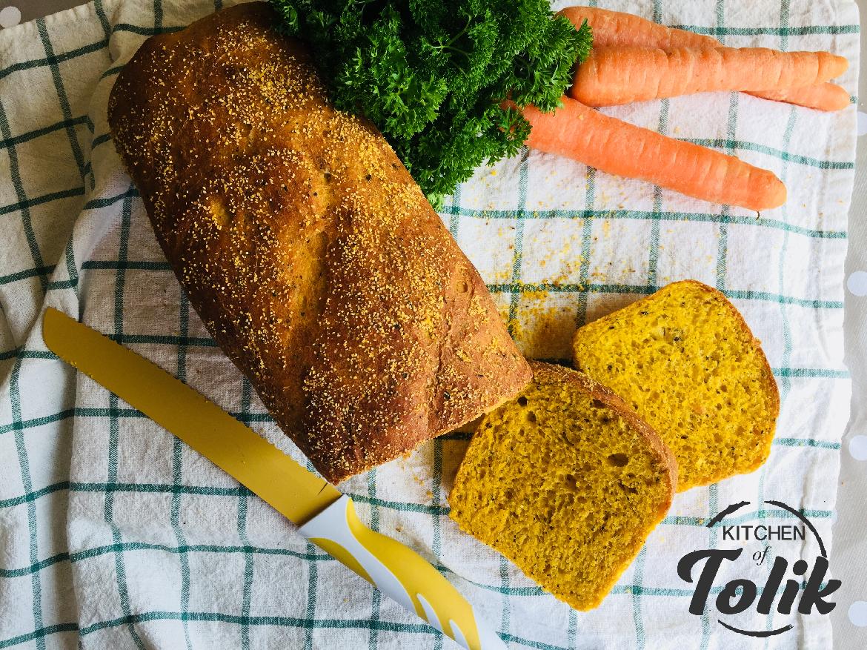 Хляб с моркови и босилек